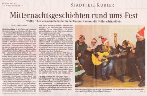 Presseartikel Weser Kurier Mitternachtsgeschichten